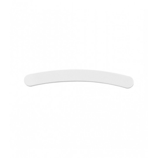 Banana shaped nail file 100/180 in White