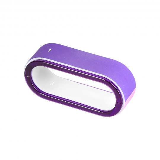 Oval shaped nail buffer