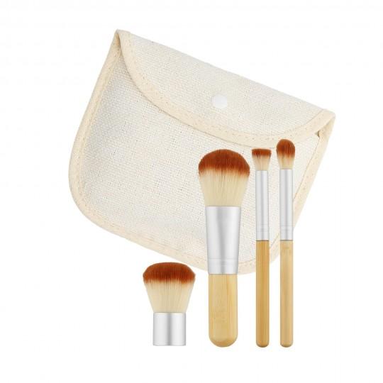 Travel Makeup brush kit 4pcs - 1