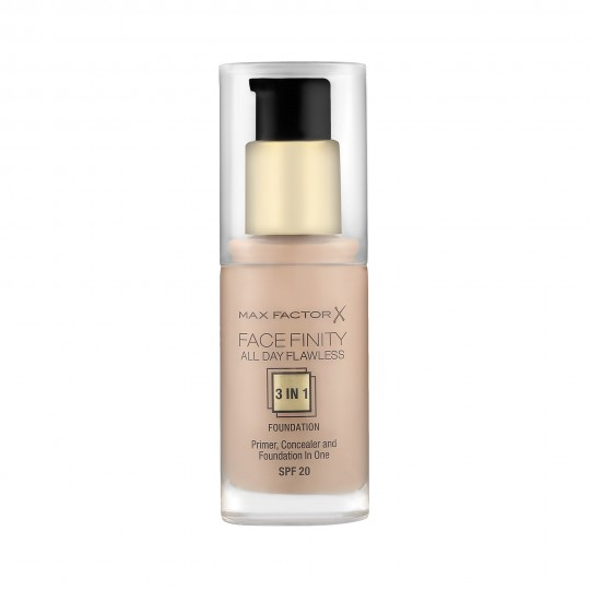 Max Factor Face Finity All Day Flawless Base de Maquillaje 3 in 1 30 ml