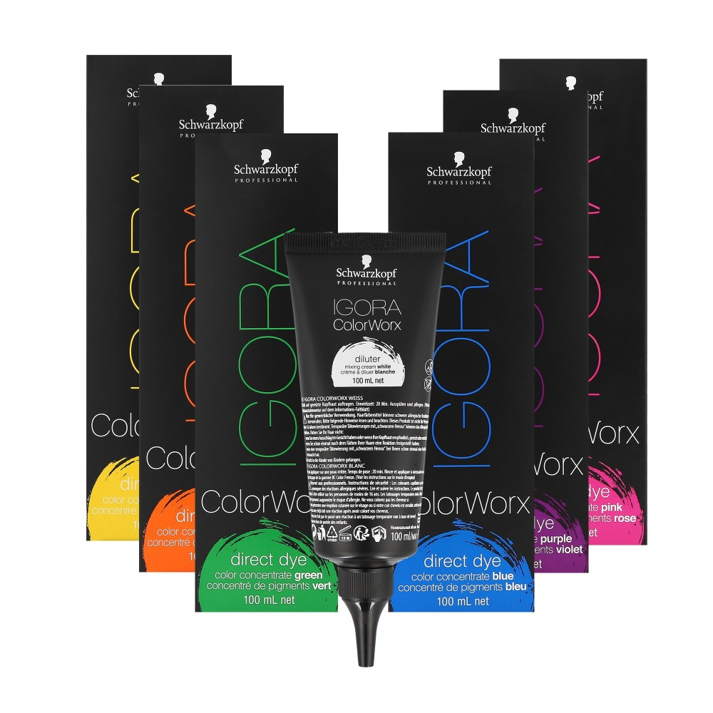 6cea216cb8 Schwarzkopf Professional Igora ColorWorx Direct Hair Dye Concentrate 100 ml  ...