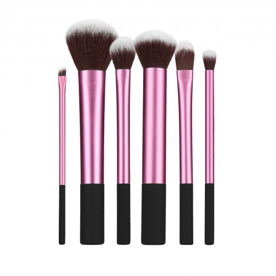 Professional Makeup brushes 6pcs set in Pink - 1