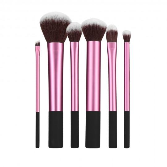 MIMO by Tools For Beauty, Zestaw 6 pędzli do makijażu, Różowy