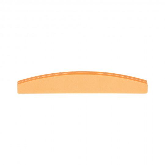 Lima de doble cara en forma de media luna con granulado 100/180 Naranja