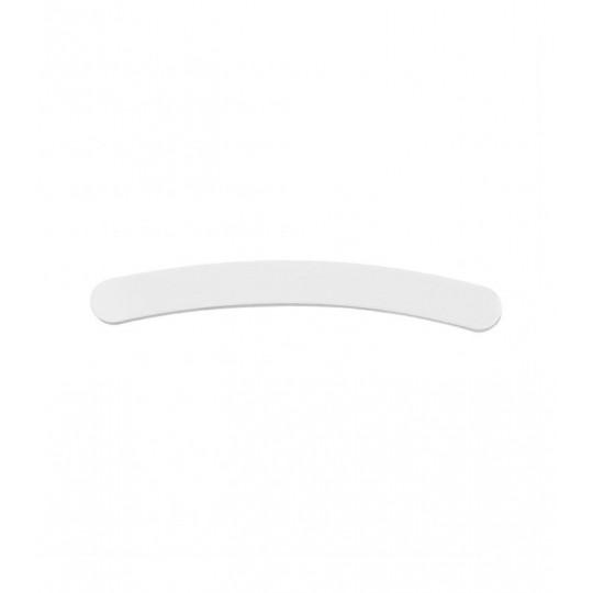 Biały pilnik do paznokci w kształcie banana gradacja 180/240