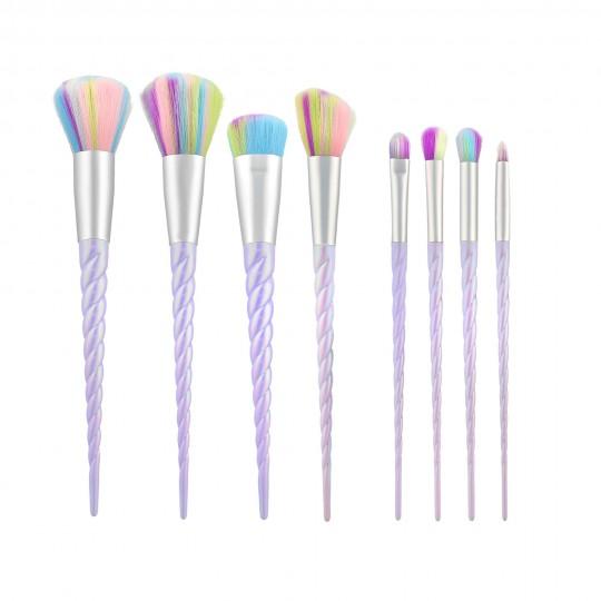 MIMO by Tools For Beauty, Zestaw 8 pędzli do makijażu, Unicorn