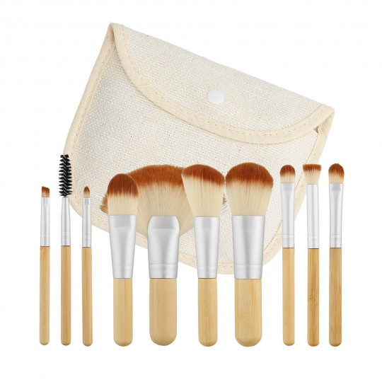 Travel Makeup brush set 10pcs - 1
