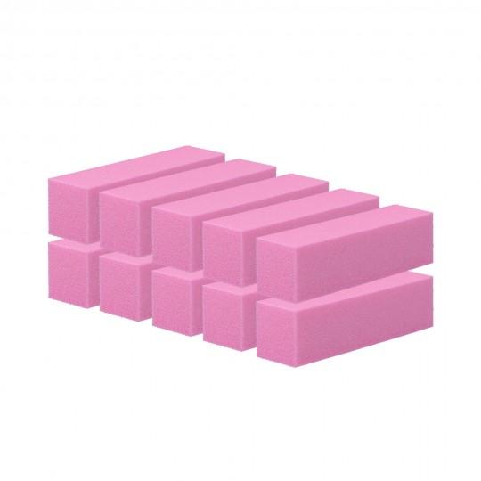 Set de buffers de cuatro caras 10 unidades Rosa