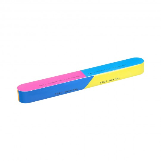 7-sided multi-coloured nail buffer block