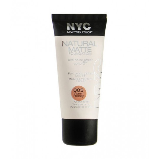 NYC Natural Matte Foundation Base de maquillaje mate 30ml