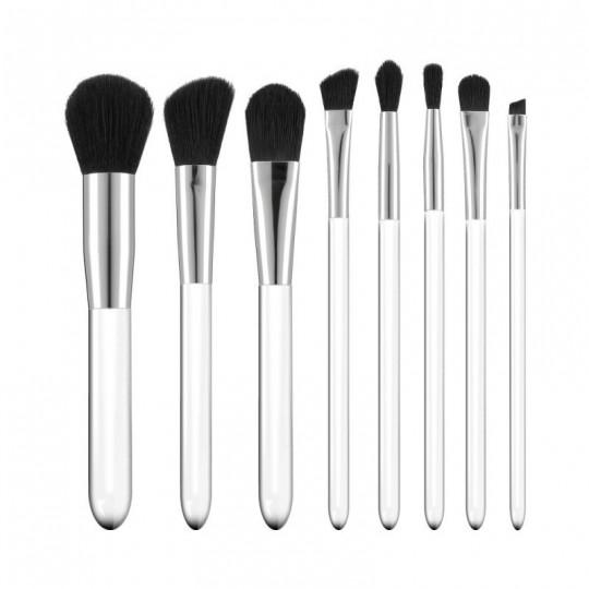 MIMO by Tools For Beauty, Zestaw 8 pędzli do makijażu, Transparentny