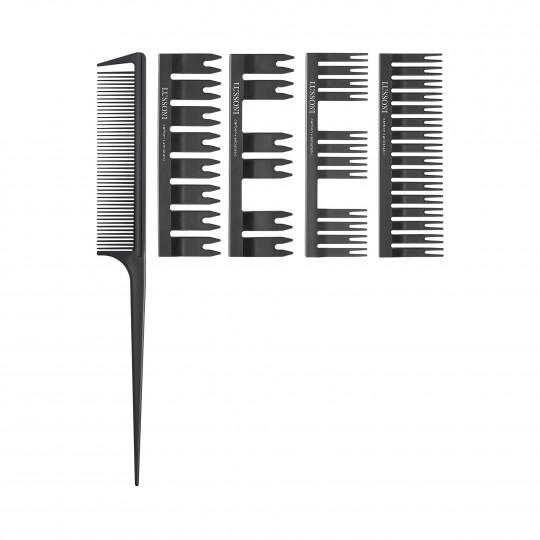 LUSSONI by Tools For Beauty, DC 500 Grzebień ze szpikulcem + 4 nakładki