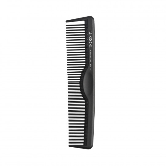 LUSSONI CC 100 Kieszonkowy, karbonowy grzebień do strzyżenia barberskiego - 1