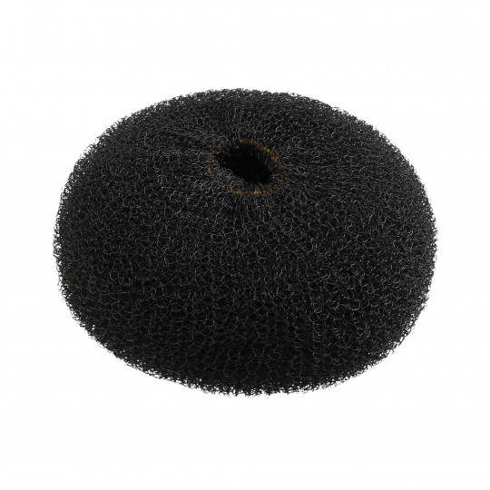 LUSSONI Black Round Hairpadding Bun Updos 110 mm