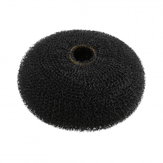 LUSSONI Black Round Hairpadding Bun Updos 90mm