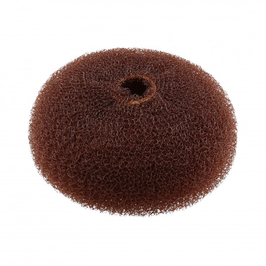 LUSSONI Brown Round Hairpadding Bun Updos 90mm