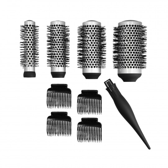 LUSSONI by Tools For Beauty, Zestaw 4 szczotek do modelowania z wymienną rączką