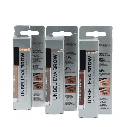 L'OREAL PARIS Unbelieva' Brow Eyebrow Gel - 4