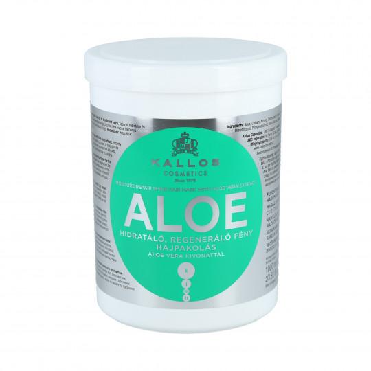 KALLOS KJMN Aloe Nawilżająca maska do włosów z aloesem 1000ml - 1