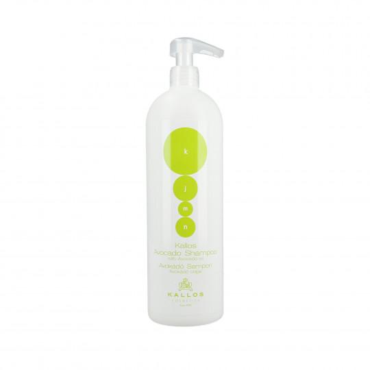 KALLOS KJMN Avocado Regenerujący szampon do włosów z olejkiem z awokado 1000ml - 1