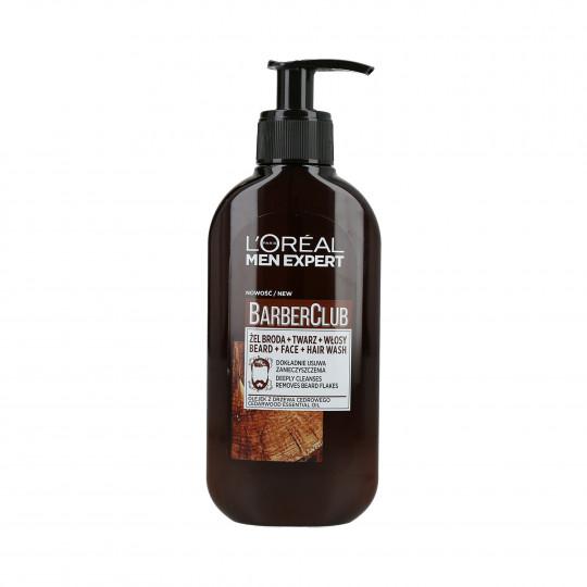 L'OREAL PARIS MEN EXPERT BARBER CLUB Żel do mycia brody, twarzy i włosów 200ml