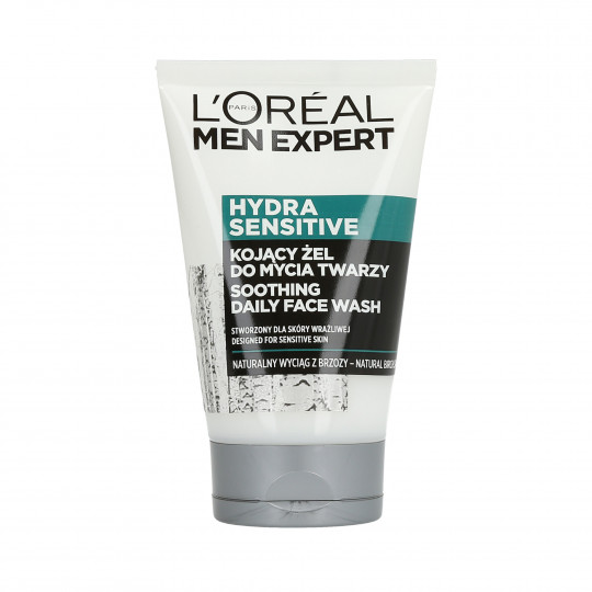L'OREAL PARIS MEN EXPERT Hydra Sensitive Kojący żel do mycia twarzy 100ml - 1