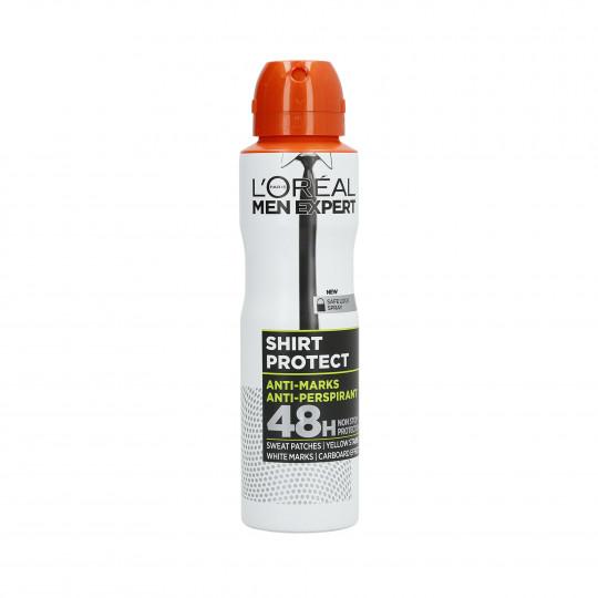 L'OREAL PARIS MEN EXPERT Shirt Protect Antyperspirant w sprayu dla mężczyzn 150ml - 1