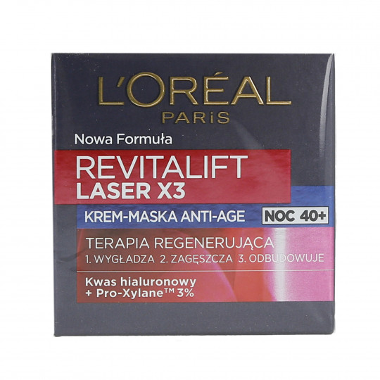 L'OREAL PARIS REVITALIFT LASER X3 Krem-maska do twarzy na noc 50ml