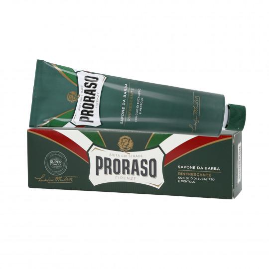 PRORASO GREEN Odświeżające mydło do golenia w tubce 150ml