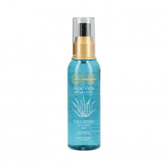 CHI ALOE VERA Wzmacniający olejek z aloesem do włosów kręconych 89ml