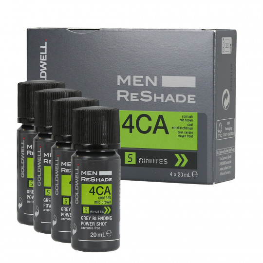 GOLDWELL MEN RE-SHADE 4CA 4x20ml