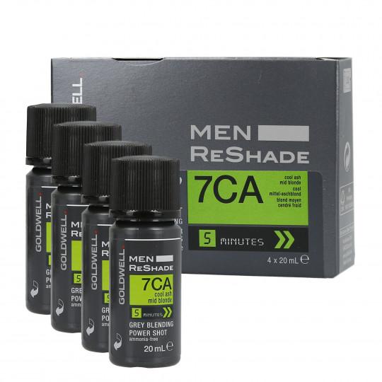 GOLDWELL MEN RE-SHADE Odsiwiacz dla mężczyzn kolor 7CA 4x20ml