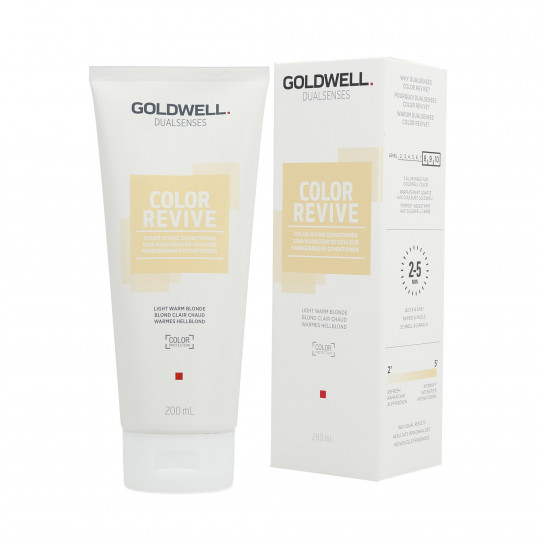 GOLDWELL DUALSENSES COLOR REVIVE Odżywka koloryzująca Light Warm Blonde 200ml