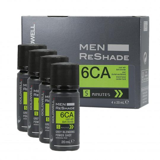 GOLDWELL MEN RE-SHADE Odsiwiacz dla mężczyzn kolor 6CA 4x20ml