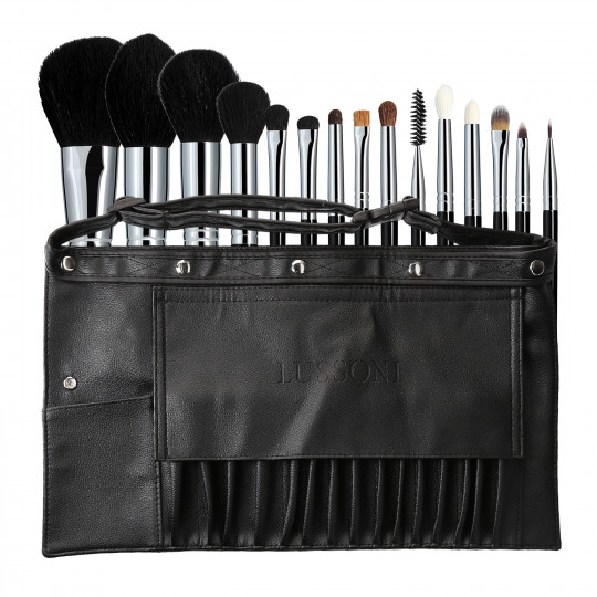 Lussoni Master Kit Professional Makeup Brush Set with Belt 16 Pcs