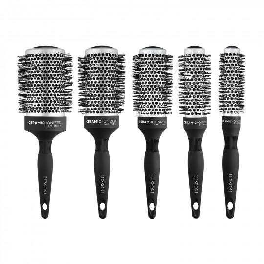 LUSSONI Care&Style Zestaw 5 profesjonalnych szczotek do modelowania włosów