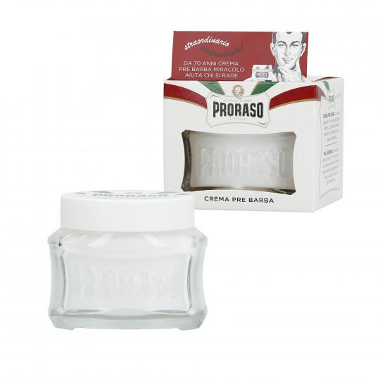 PRORASO WHITE Crema pre-afeitado calmante 100ml - 1
