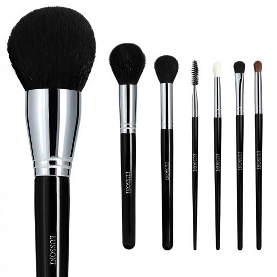 LUSSONI Must-haves - Zestaw 7 profesjonalnych pędzli do makijażu