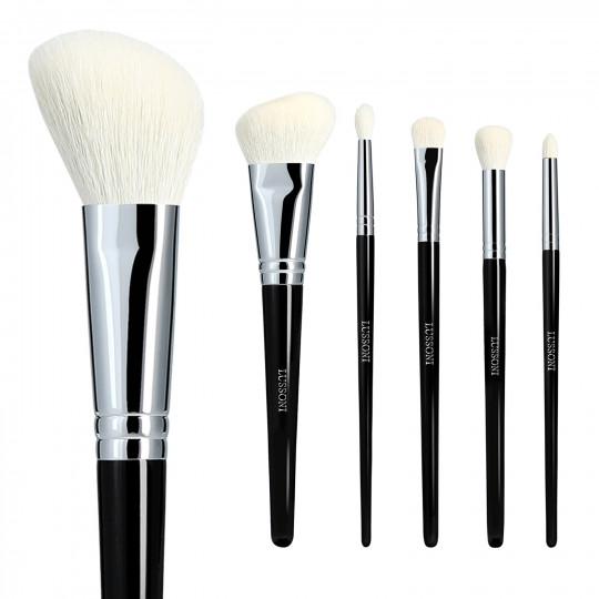 LUSSONI Natural Charm - Zestaw 6 Profesjonalnych pędzli do makijażu