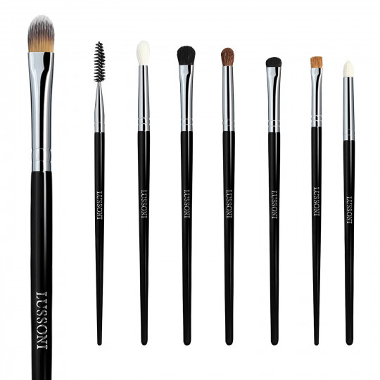LUSSONI Smokey Eye 8 Pcs Professional Makeup Brush Set