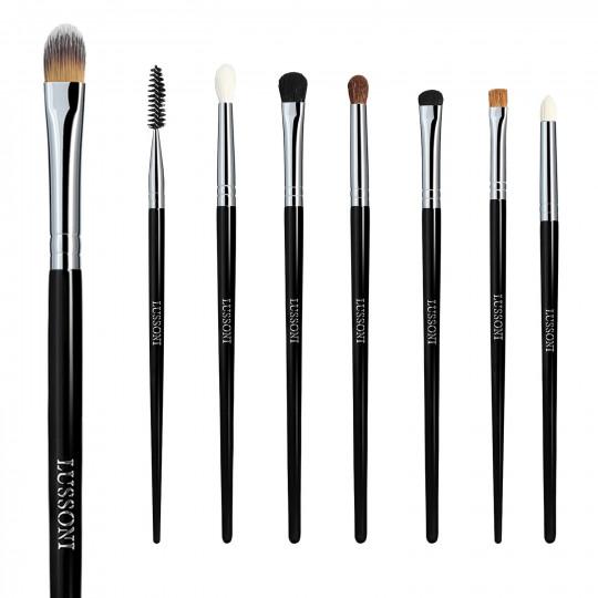 LUSSONI Smokey Eye - Zestaw 8 Profesjonalnych pędzli do makijażu