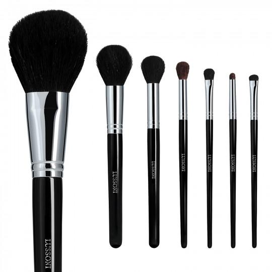LUSSONI Natural Smoothness - Zestaw 7 Profesjonalnych pędzli do makijażu