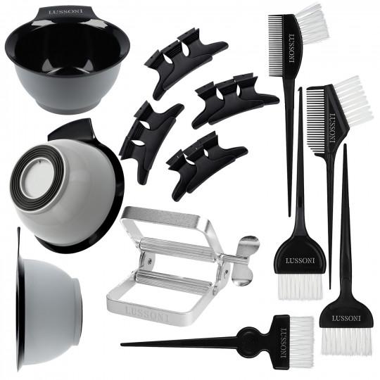 LUSSONI by Tools For Beauty, 10-częściowy zestaw akcesoriów do koloryzacji włosów