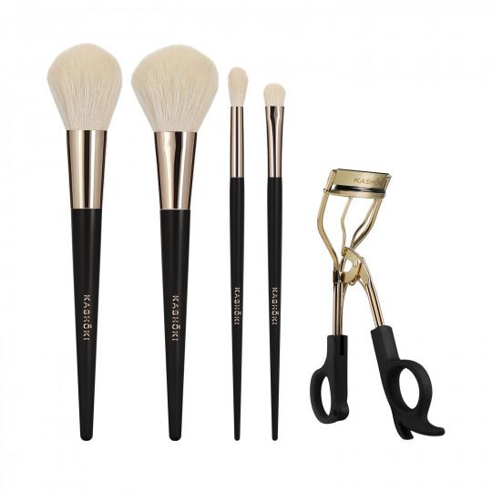 KASHŌKI ONIYURI 5-częściowy zestaw pędzli i akcesoriów do makijażu
