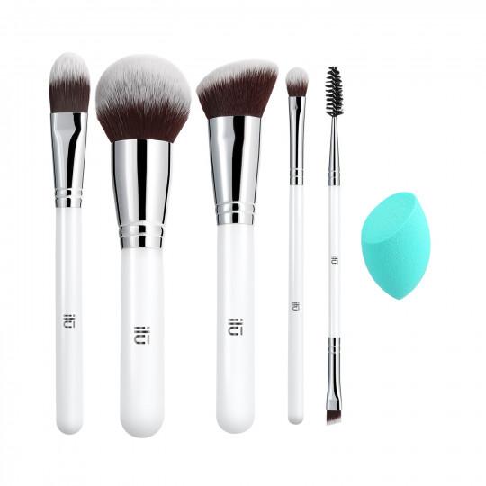 ilū by Tools For Beauty, Everyday Essentials – 6-częściowy zestaw pędzli do makijażu z gąbką