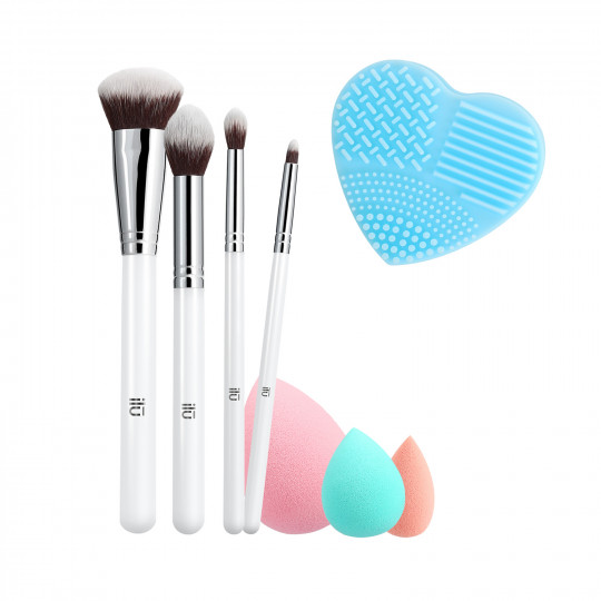 ilū by Tools For Beauty, Perfect Pick Up - Zestaw pędzli i akcesoriów do makijażu
