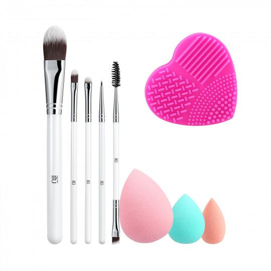ilū by Tools For Beauty, Liquid Therapy - Zestaw pędzli i akcesoriów do makijażu