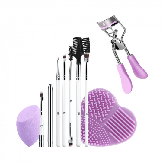 ilū by Tools For Beauty, Purple Pick-up Line - Zestaw pędzli i akcesoriów do makijażu
