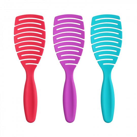 ilū by Tools For Beauty, My Happy Color – Zestaw 3 szczotek do rozczesywania włosów
