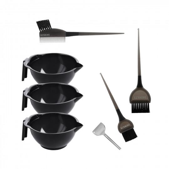 LUSSONI by Tools For Beauty, 6-częściowy zestaw akcesoriów do koloryzacji włosów
